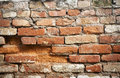 Old brick wall dilapidated Royalty Free Stock Images