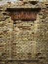 Old brick wall and former window Royalty Free Stock Photo