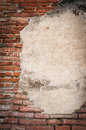 Old brick wall fragment texture ayutthaya thailand Stock Photo
