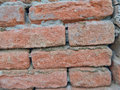 Old brick wall home cracked dilapidated Royalty Free Stock Image