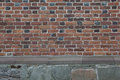 Old brick wall multicolored textured background Stock Image