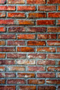 Old brick wall in natural light background Royalty Free Stock Photos
