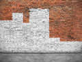 Old brick wall painted white Royalty Free Stock Photo