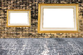 Old brick wall and photo frame affixed Royalty Free Stock Photo