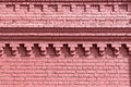 Old Brick Wall Of Red Color Wi...