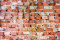 Old brick wall red texture background