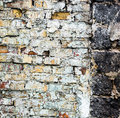 The old brick wall with rich texture Royalty Free Stock Photo