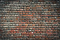 Old brick wall urban background close up detail fo red side of building in uk Stock Image