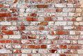Old brick wall with white and red bricks Royalty Free Stock Photo