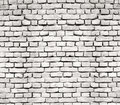 Old brick wall white texture retro Royalty Free Stock Image