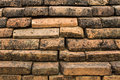 Old brick wall in wiang kum kam chiangmai thailand Royalty Free Stock Images