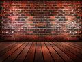 Old Brick Wall And Wood Patter...