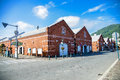 Old brick warehouse in hakodate japan which is shopping Stock Photography