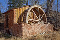 Old brick water mill in sedona at the crescent moon ranch recreation area near arizona and also near red rock crossing at oak Stock Photography
