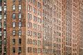 Old bricks building facade Royalty Free Stock Photo