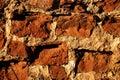Old bricks wall close-up Royalty Free Stock Photo