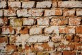 Old brickwall close up detail view of Royalty Free Stock Photo