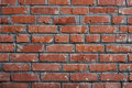 Old brickwall red with grey seams Royalty Free Stock Photo