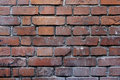 Old brickwall red with grey seams Royalty Free Stock Photos