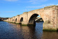 Old bridge or berwick bridge at berwick upon tweed also known as the crossing the river in northumberland england is a grade Royalty Free Stock Image