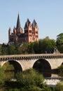 Old bridge and cathedral, Limburg Royalty Free Stock Photo