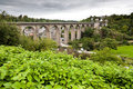 The old bridge at Dinan Stock Images