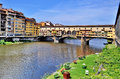 Ponte Vecchio and Arno River in Florence, Italy Royalty Free Stock Photo
