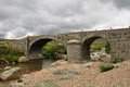 Old bridge in france roman the cévennes Royalty Free Stock Image