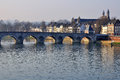 Old bridge in maastricht holland Stock Photo