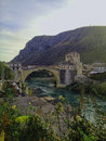 Old bridge mostar historical places in bosnia and herzegovina place object Stock Images