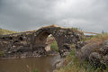Old bridge over jordan river israeli side of ancient Stock Photography