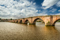 Old bridge over river Tweed Royalty Free Stock Images