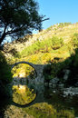 cerreto,old,Bridge,annibale Royalty Free Stock Photo