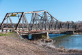 Old bridge spans the snake river idaho historic over south central Royalty Free Stock Photos