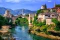Old Bridge Stari Most in Mostar, Bosnia and Herzegovina Royalty Free Stock Photo