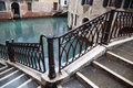 Old bridge in venice italy Stock Photo