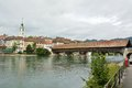 Old bridge of wood in olten switzerland Royalty Free Stock Image