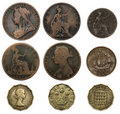 Old British Coins Royalty Free Stock Photo