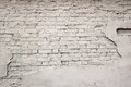 Old Broken Damaged Plastered Painted White Brick Wall Background Royalty Free Stock Photo