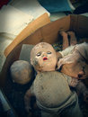 Old Broken Dolls Left Behind Royalty Free Stock Photo