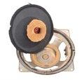 Old broken speaker Royalty Free Stock Photo