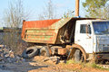 Old broken truck KAMAZ Royalty Free Stock Photo