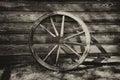 Old Broken Wagon Wheel At The ...
