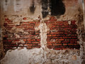 Old broken wall. Royalty Free Stock Images