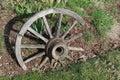 Old Broken Wood Wagon Wheel