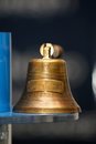 Old bronze bell service hand Royalty Free Stock Photo