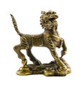 Old bronze dragon defender home and bringing good luck feng shui Stock Photo