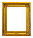 Old bronze frame isolated over white background with clipping path Stock Photo