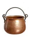 Old  bronze pot Royalty Free Stock Image