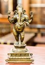 Old bronze statuette of hindu god ganesha in a shop Stock Images